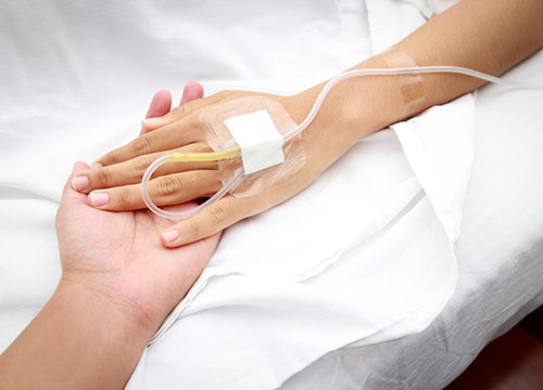 Patient undergoing infusion