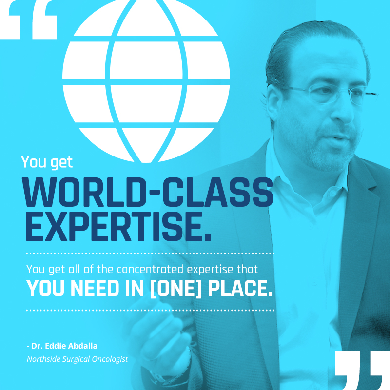 You get world class expertise. You get all of the concentrated expertise that you need in one place.